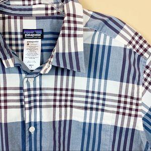 Patagonia plaid grid organic cotton men's shirt